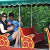 Kristen, Brecken and Brad on his second train ride at the Denver Zoo.