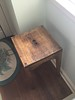 rustic table with finger holes