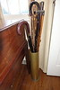 brass umbrella stand- old artillery shell- 75th st?