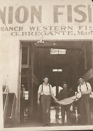Gerolamo and employees at Union Fish Market in 1919.