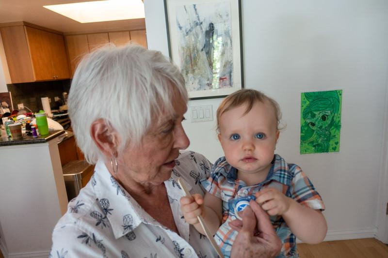 Grandma and the birthday boy