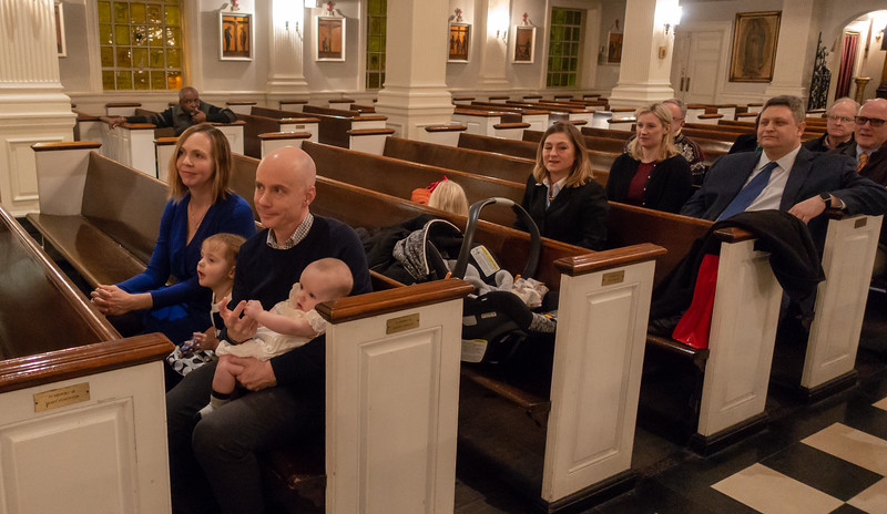 The San Jose McGee's, Bridget Finnerty and Tess, and. the godparents, Maura and Barry