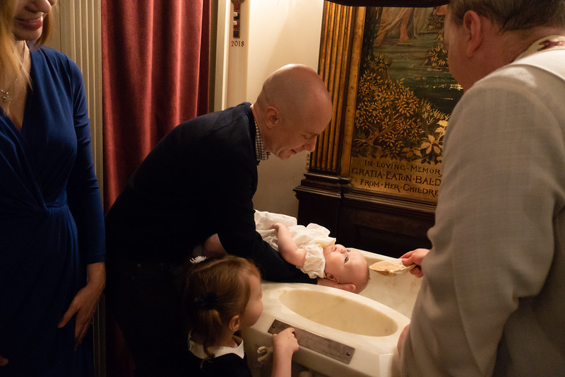 Brendan gets baptised