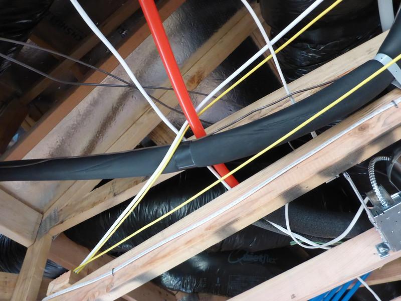 Mar 19 - Overhead cabling is all haphazard.