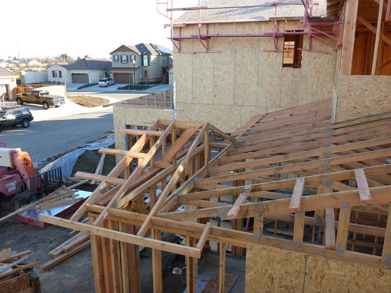 Feb 07 - Roof above garage.