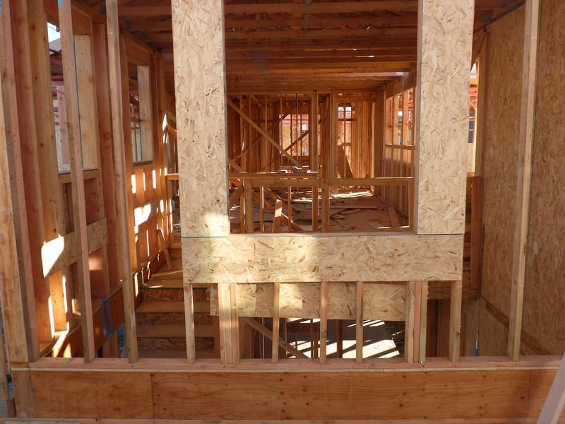 Feb 07 - Looking into the 2nd floor stair window from next door.