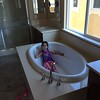 June 9 - Relaxing in the tub