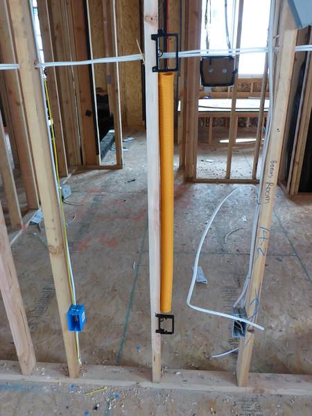 Mar 19 - Flatscreen cable passthrough.