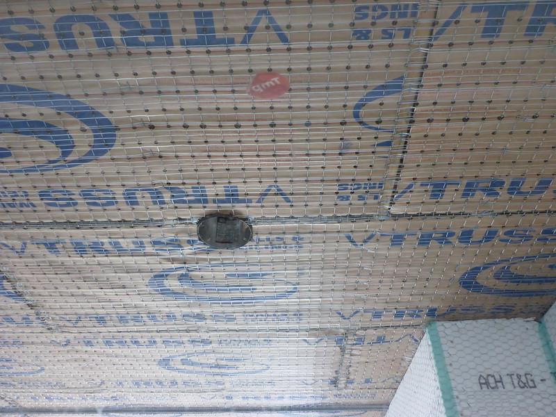 Mar 19 - California room ceiling, light to joist 3