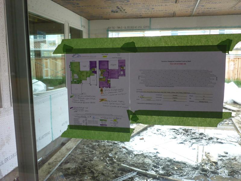 Mar 19 - Flooring plans. Green is composite, Purple is carpet.