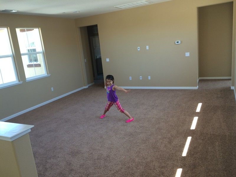 June 9 - Bonus room, with Myriam for scale.