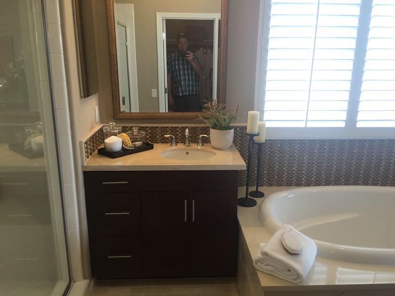 Master Bathroom one sink