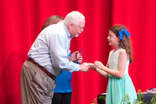 Breya at School Awards Ceremony
