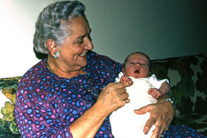 First day home: November 5, 1970, with Nana Cavanaugh