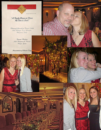 Bridal Dinner Collages