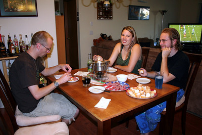After our hike on Tubbs Hill we came home and made fondue. Then after dinner I make some home made ice cream.