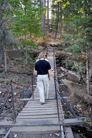 There is a really cool bridge on Tubbs hill that we got to cross.