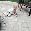 Lily found a worm!