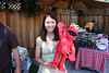 Jenny with Elmo, the sacraficial pinata.