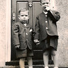 Al and Peter off to Sunday School (Woodbury, 1949).