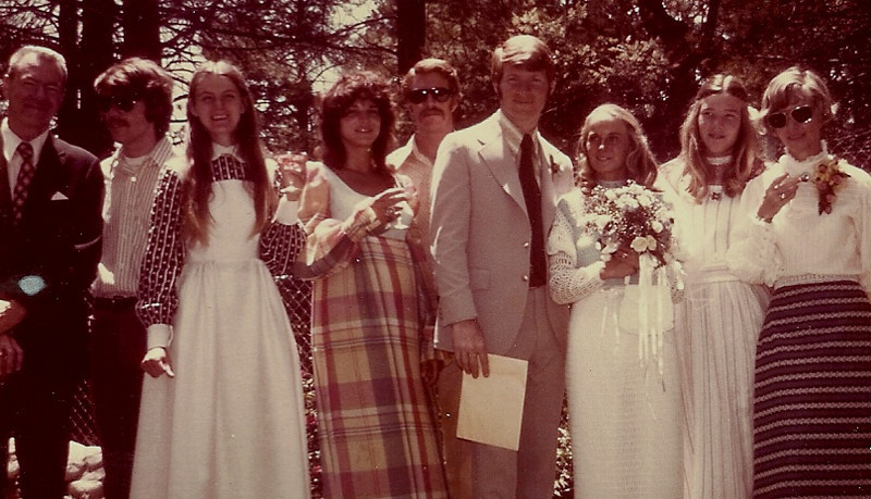Robert's wedding, 1975.