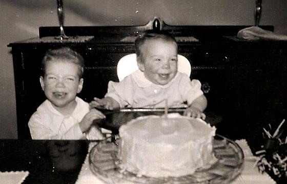 Peter's first birthday (Woodbury, 1948).