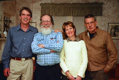 Dave, Bruce, Lynda, Richard in 2001 437 Melbourne Ave, Mamaroneck NY