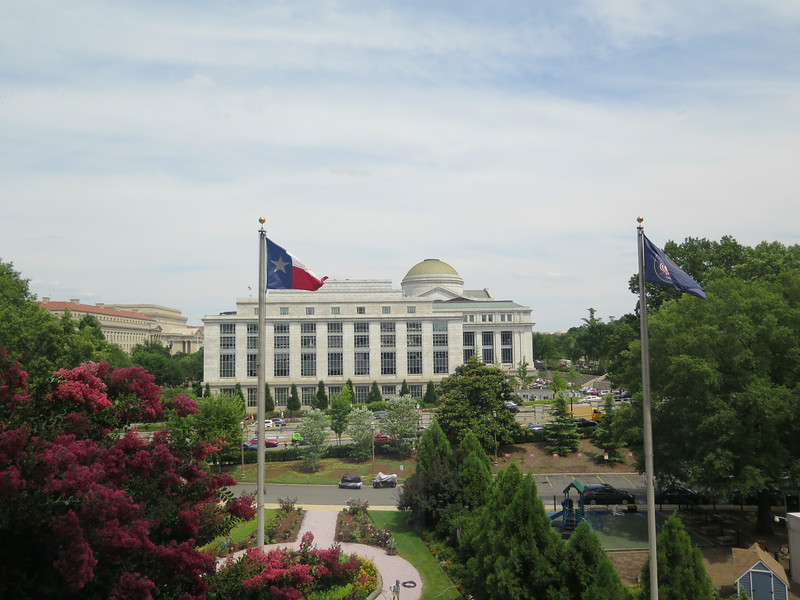 This was taken out of the window at the National Archives, it was cool to look out an see the Texas flag.