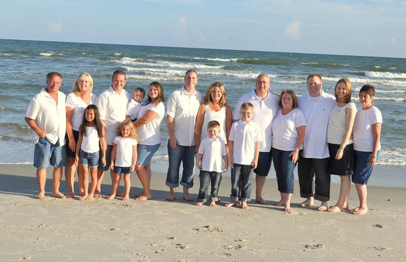 Holden Beach NC,  Bryce Lafoon Photography captures family portraits on a families beach vacation.