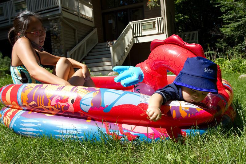 Bryce's new dragon pool.