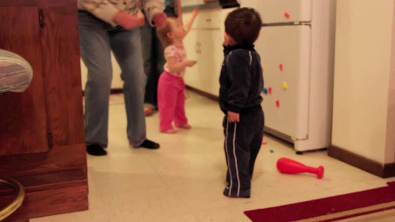 Bryce dances with Grandma... hilarious!