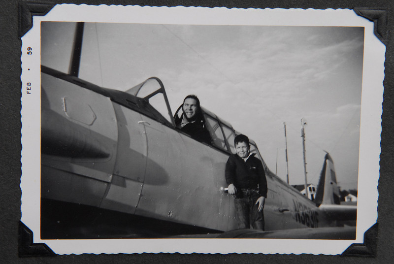 My dad and brother Phil on T-6 at Aiken SC airport.