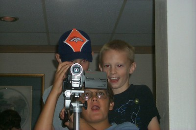 boys messing with camera
