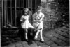 Maureen Fisher Barbara Kerr bottom East Street back abt 1949 1