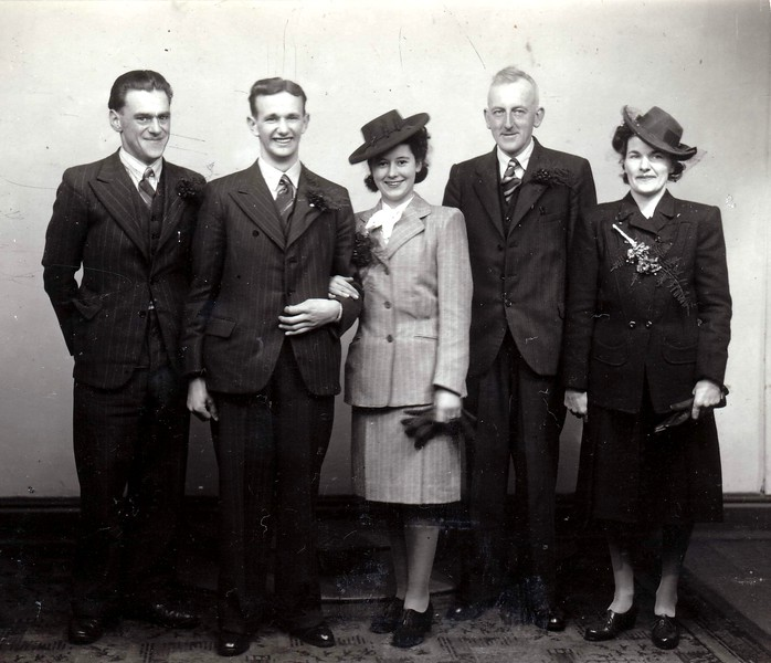 Charles Benjamin Evelyn Edna Fisher marriage 19451215 1