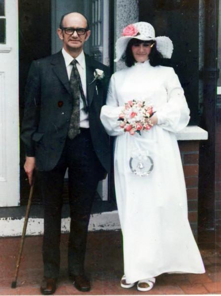 Ben Maureen wedding 1973 1