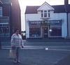 Edna outside Derek and Maureen Hairdressers_picnik