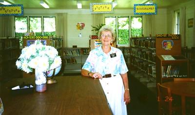 Jun 1996 - Carole in Pesega Primary Library