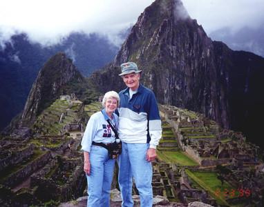 Feb 1999 - Carole & John at Machu Pichu, Peru