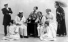 Concert party - Will McGowan 4th from right (sailor)