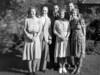 Cassie McGowan, Leslie Everest, Will McGowan, Connie Everest, Geoffrey Calder and Mary Calder