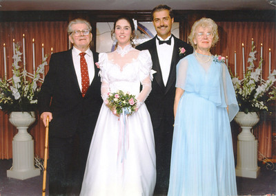 Steve & Louise Wedding with Ed & Nellie Shumbris-Sept 5 1992