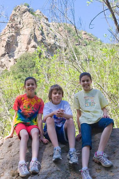Kids on a rock