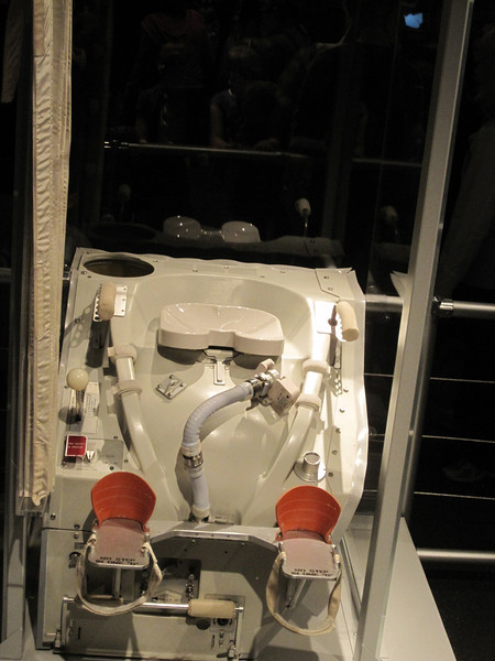 Space toilet!  Yeah this exhibit was crowded.