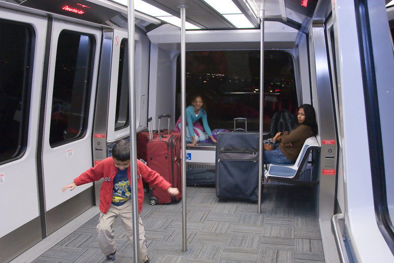 The kids favorite game is to ride the airtrain at San Francisco airport - which I think we rode 6 times!
