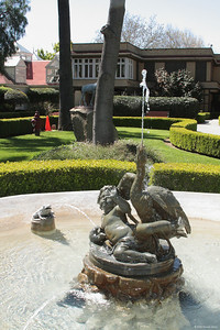 Cherub statue at Winchester Mystery House.