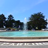 The huge pool in front of the Legion of Honor museum