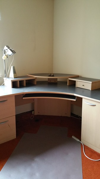...and after!  - all cleared, including bottom of the desk!