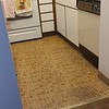 Got rid of the dirty rugs in the kitchen, and vacuumed!...