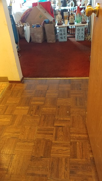 The entrance way near the spare room - all vacuumed!... (pic taken from kitchen )
